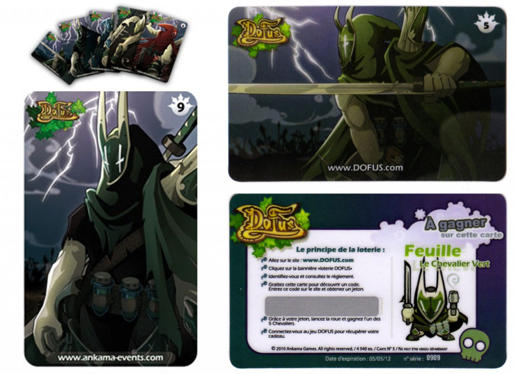 Il existe 5 cartes de Tourmenteurs, un par élément (eau, air, feu, végétal) et une multi éléments pour le Chevalier Noir
