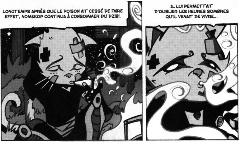 Nomekop fume des feuilles de Dzibi (Dofus Monster Tome 5)