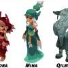 Glip, Nora, Qilby, Mina et Chibi sont aussi présents dans le jeu Islands of Wakfu