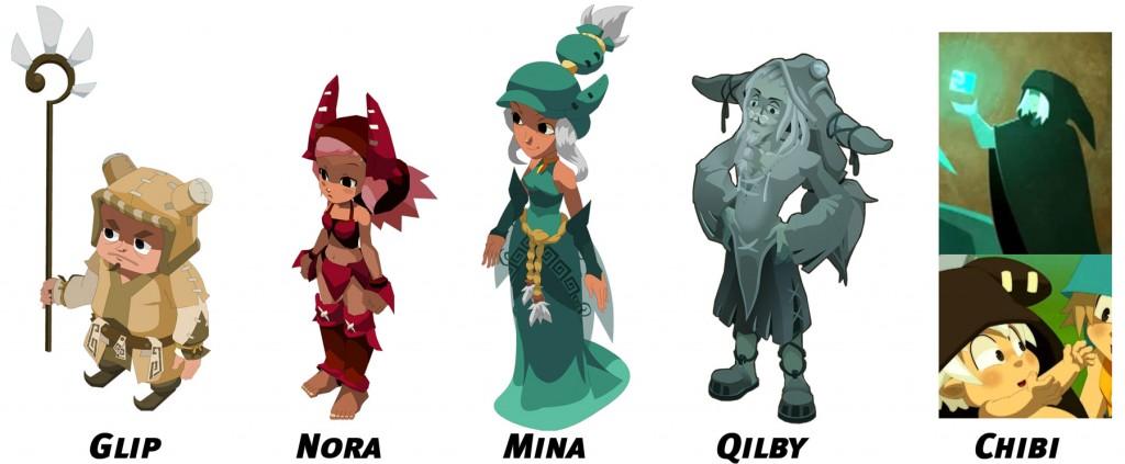 Glip, Nora, Qilby, Mina et Chibi sont aussi présents dans l'épisode 33 de Wakfu