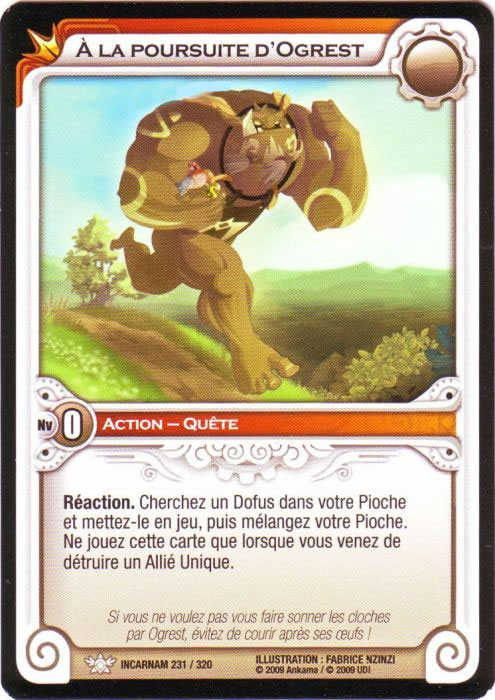 Carte : A la poursuite d'Ogrest (Wakfu TCG)