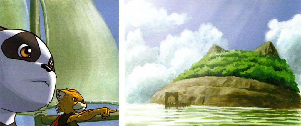 Pandhravan et Léopardo (Pandala - Dofus)