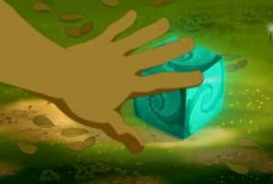 Yugo arrive a ctiver l'Eliacube en utilisant le Wakfu d'Adamaï et du dofus de Grougaloragran