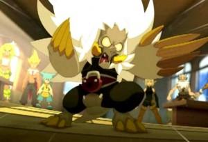 Moumoune fusionne avec son phorreur et se transforme en monstre (Wakfu)