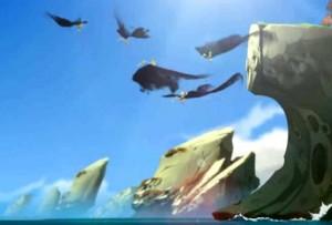 Yugo et ses amis s'envolent avec les montures des bandits