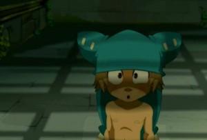 Yugo accepte de retirer son bonnet si les autres ne le regarde pas