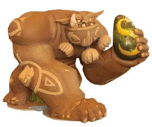 Sculpture géante d'Ogrest créée Ankama pour les salons (Wakfu)