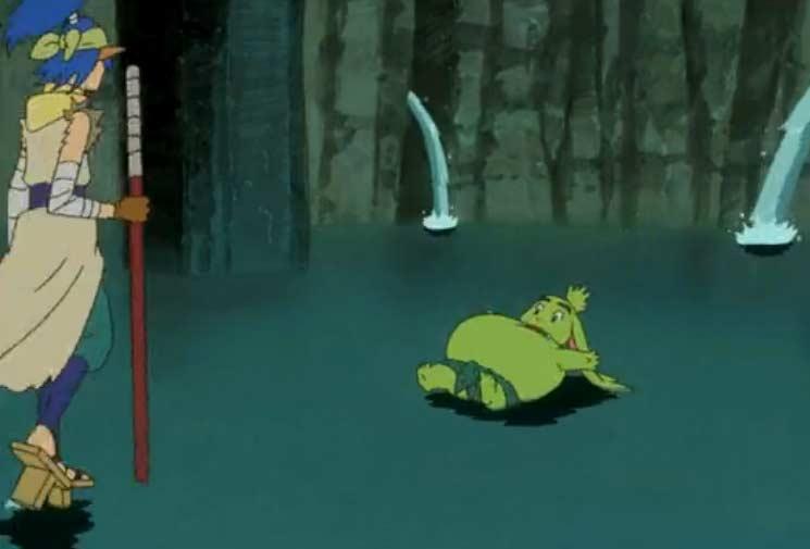 Ogrest absorbe toute l'eau du bassin