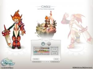 Création de personnage (Wakfu MMO)