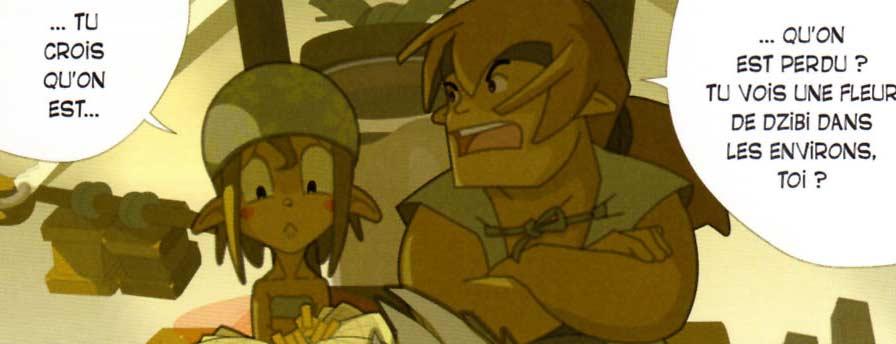 Bruménie et Elexter sont à la recherche d'une Dzibi (Dofus Quest)