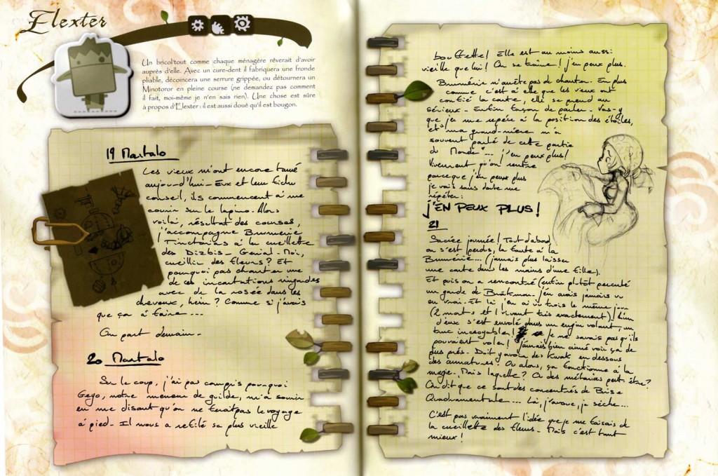 La seconde partie du livre présente des fiches techniques sur les personnages et les armes