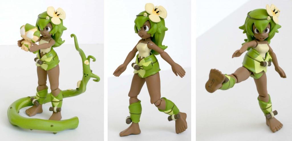 Cette figurine d'Amalia est très mobile mais reste équilibrée