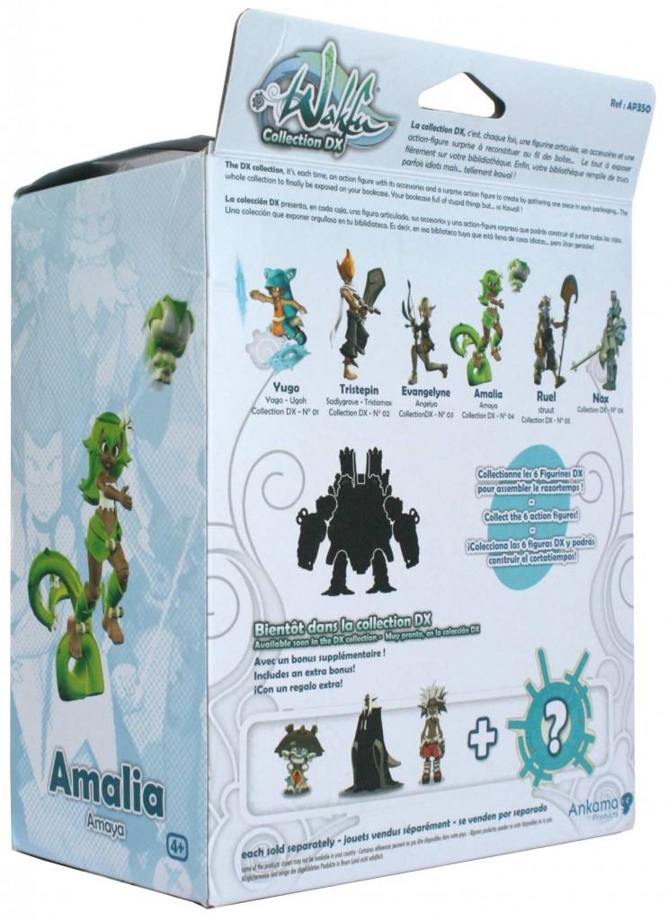 dos du Packaging de la figurine Wakfu DX d'Amalia