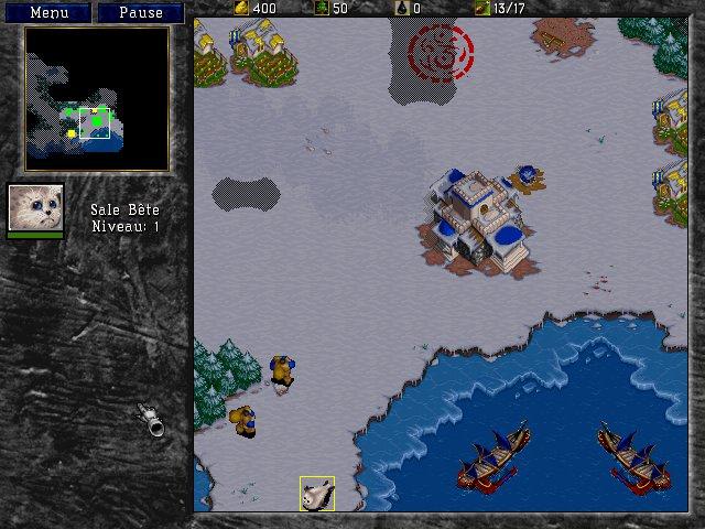 Warcraft 2 : petite base