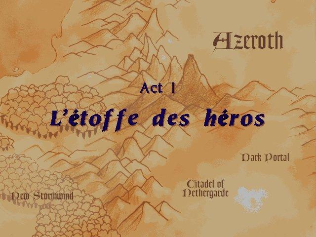 Warcraft 2 : carte du monde de Lordaeron