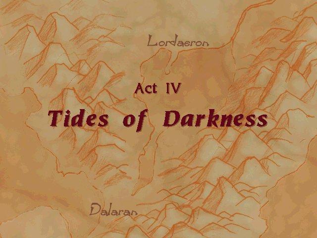 Warcraft 2 : titre tides of darkness