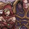 Anduin, Varian  et Valeera regardent le depart de Broll pour Teldrassil  (BD World of Warcraft)