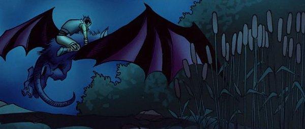 Med'an rejoint sa mère dans un camp à côté de Theramore pour l'empêcher de tuer le roi Varian  (bande-dessinée World of Warcraft)