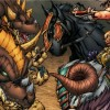 Varian, Broll, Valeera s'élancent contre les draconides (BD World of Warcraft)
