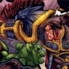 Varian tue un orc du Marteau du Crepuscule à Theramore (bande-dessinee World of Warcraft)