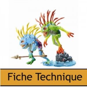 DC Unlimited : World of Warcraft Deluxe  Series 4  2 Murloc Fish-eye et Gibbergil
