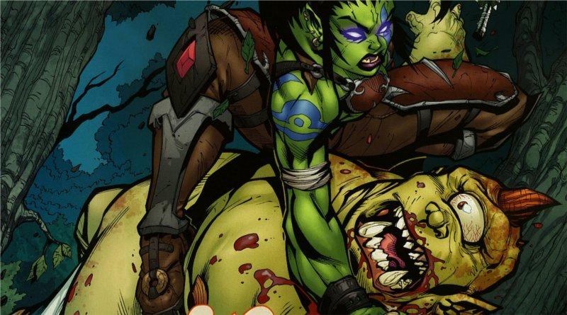 Garona tue un ogre qui en veut à son fils Med'an (BD World of Warcraft)