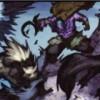 Fuite des druides sous forme de loups à cause de la menace de demons et de satyres