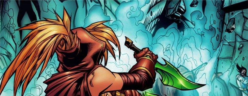 Valeera se prepare à attaquer Onyxia (BD world of Warcraft)