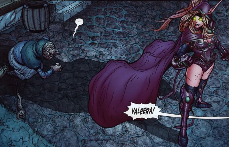 Valeera vient de voler le pouvoir à une vieille liseuse de cartes (BD world of Warcraft, retravaillé par nos soins)