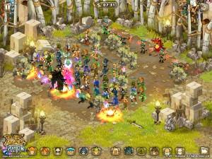 Maître Korbac dans l'arène de Bonta dans Dofus Battle (iPhone)