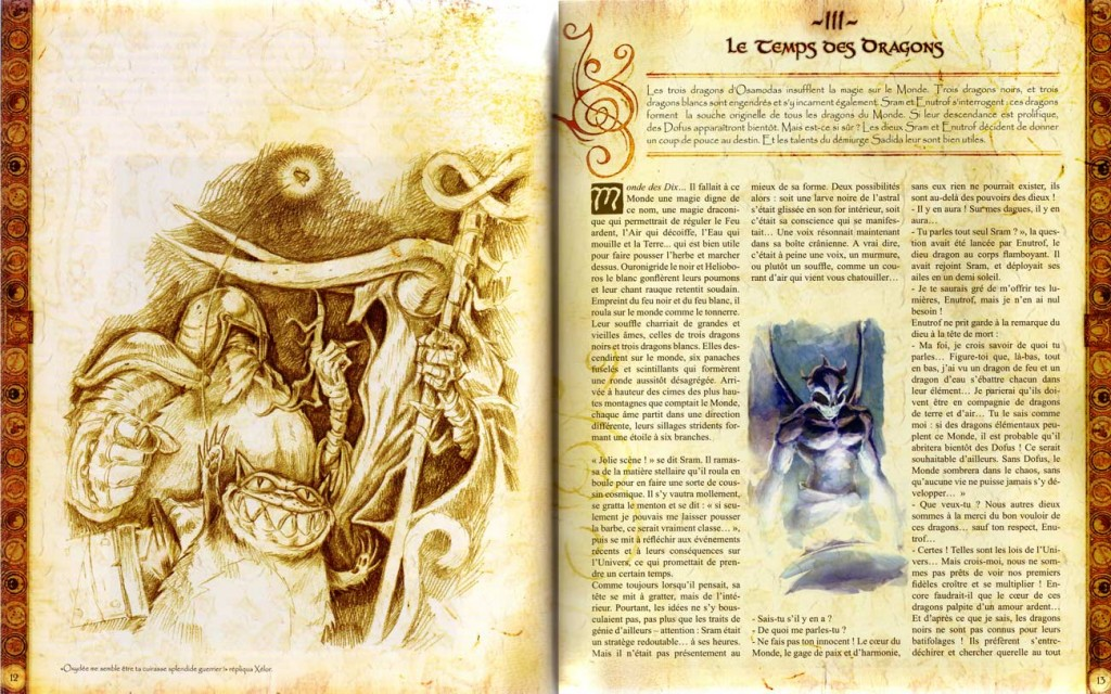 Page 12 et 13 de l'Art Book Dofus Session 2