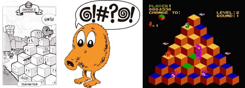 Q-bert est un jeu des années 80
