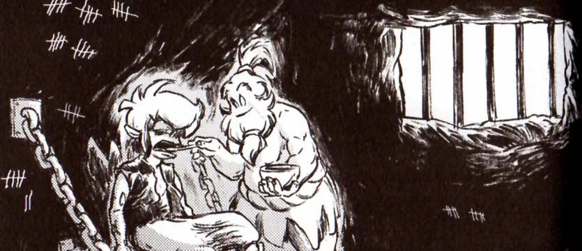 Yzua s'est occupé de Brumen en prison (Dofus Monster)