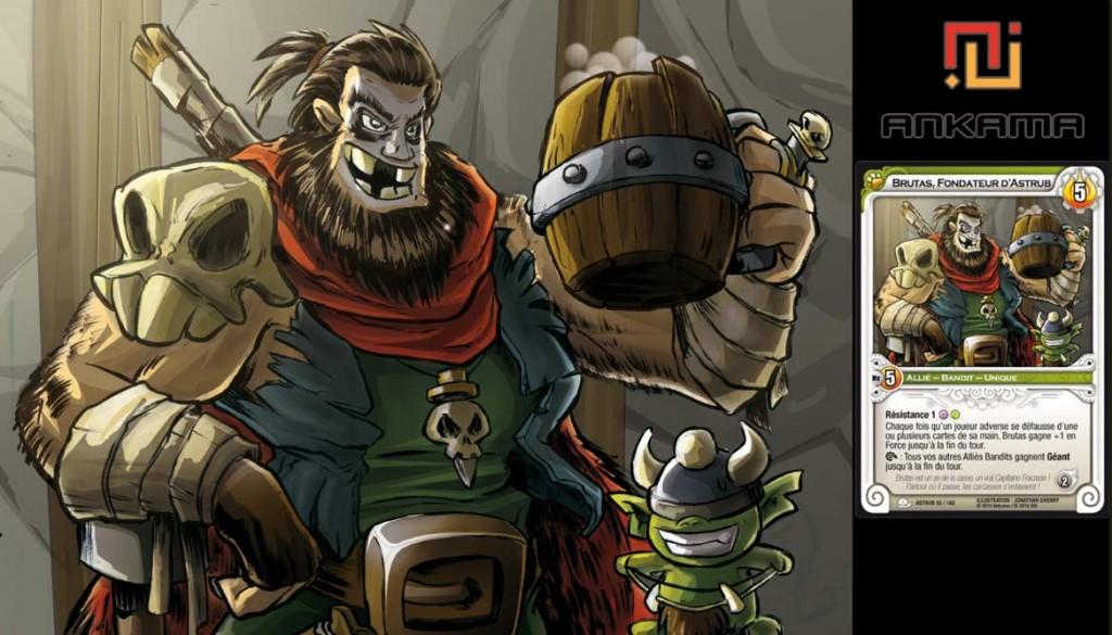 Illustration de Jonat pour le jeu Wakfu TCG