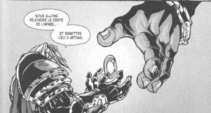 Thassarian récupère la clé de Quel'Thalas dans le manga Death Knight (World of Warcraft)