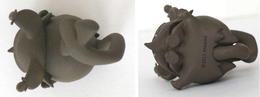 Vue de dessus et dessous de la figurine Grany UDX (Wakfu)