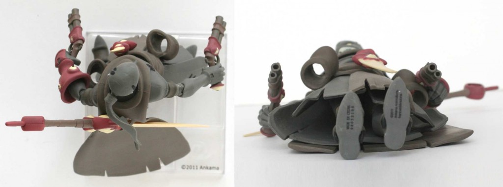 Vue de dessus et dessous de la figurine Remington UDX (Wakfu)