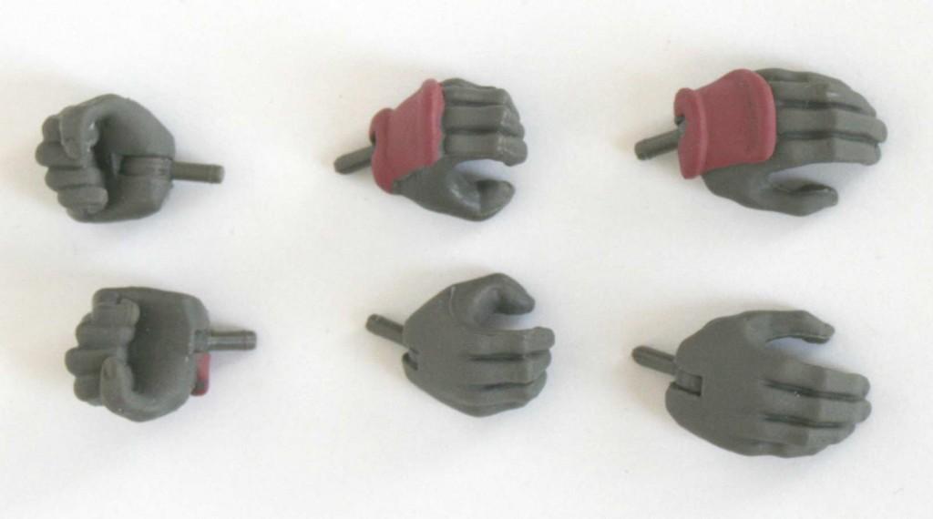 La figurine est fournie avec trois paires de mains