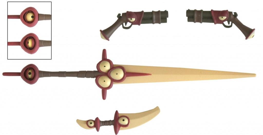 L'œil du manche de l'épée a des paupières amovibles (Remigton - Wakfu)
