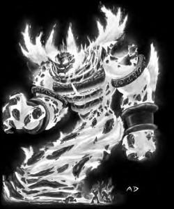 Image de Ragnaros tiré du jeu de rôle Warcraft