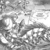 Manga World of Warcraft - Shadow Wing : le paladin Jorad Mace sur un cheval