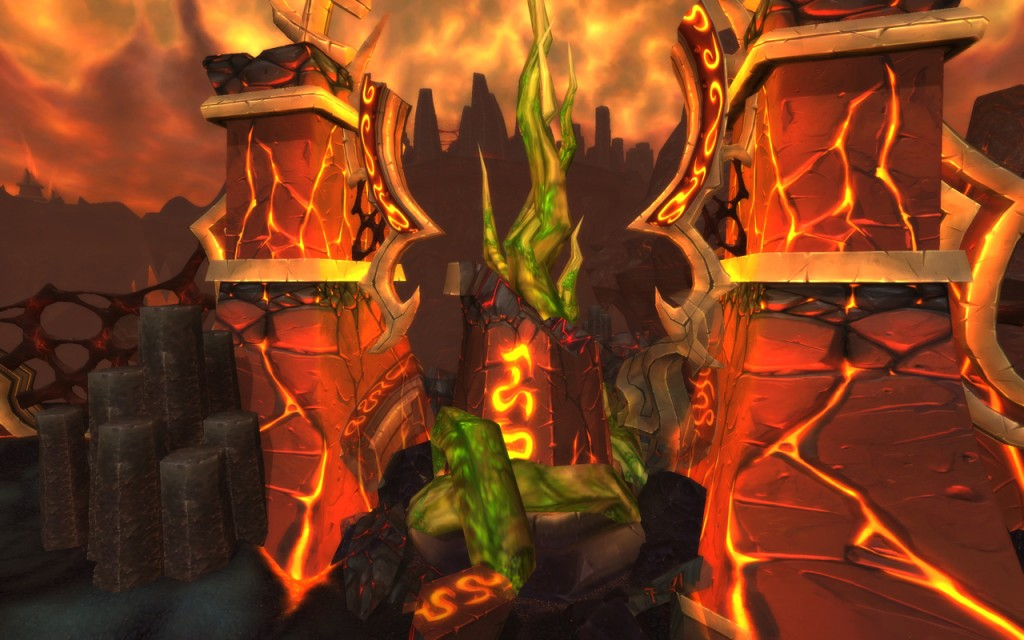 World of Warcraft : image des terres de feu, le royaume de Ragnaros (patch 4.2)
