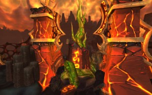 World of Warcraft : image des terres de feu, le royaume de Ragnaros (patch 4.2)