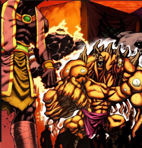 Cho'gall attend Med'an à Anj'Qiraj (bande-dessinée World of Warcraft)