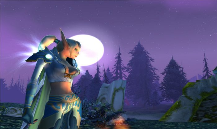 Capture World of Warcraft d'une elfe de sang