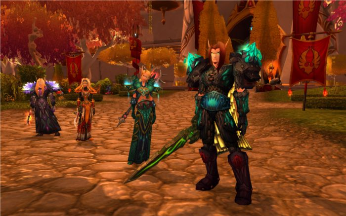 Capture World of Warcraft d'un groupe d'elfes de sang