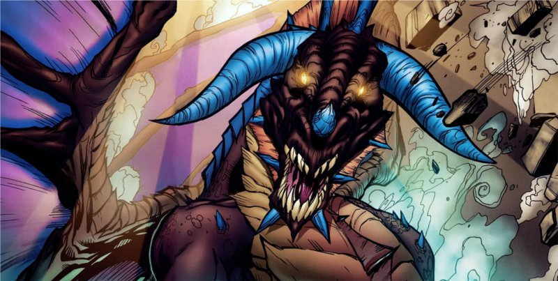 Onyxia sous sa forme de dragon (bande-dessinée World of Warcraft)