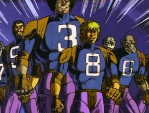 Les épisodes de Cobra se terminent aussi sur un crayonné (ici un épisode sur le Rugball)