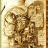 un chasseur de prime ramène sa proie (Page 15 du Dofus Art Book : Session 3)