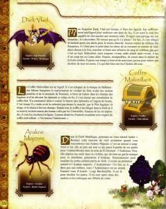 La présentation de Dark Vlad est décorrélée de Goultard (Page 122 du Dofus Art Book : Session 3)